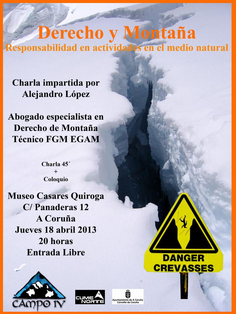 Charla Derecho y Montaña: responsabilidad en actividades en el medio natural